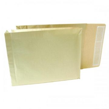 Gusset Envelopes - Manilla<br>Size: 380x280x50mm<br>Pack of 100